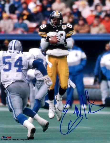 Ernie Mills autograph 8x10, Pittsburgh Steelers