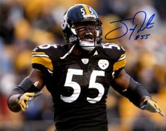 Joey Porter autographed 8x10, Pittsburgh Steelers