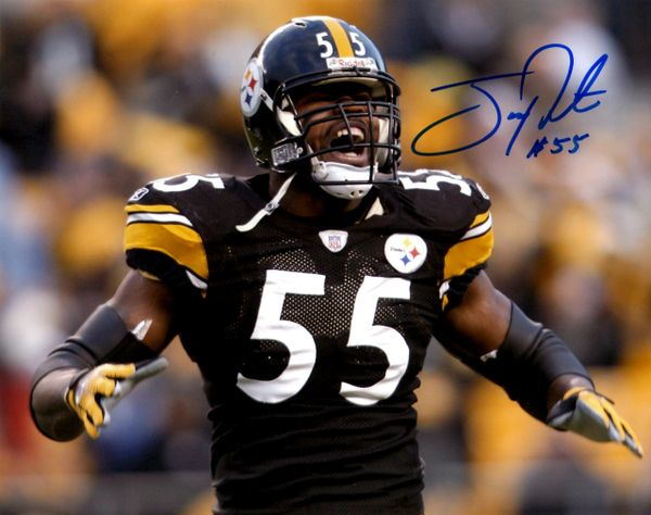 Joey Porter autographed 8x10, Pittsburgh Steelers