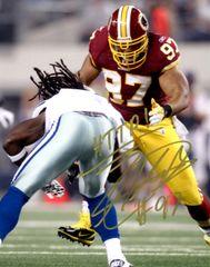 Lorenzo Alexander autograph 8x10, Washington Redskins, HTTR