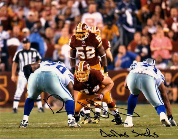 Rocky McIntosh autograph 8x10, Washington Redskins, Dallas Sucks
