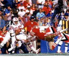 Stanley Morgan autograph 8x10, New England Patriots, 4x Pro Bowl
