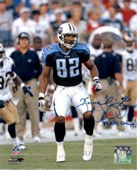 Yancey Thigpen autographed 8x10,Tennessee Titans, 99 AFC Champs