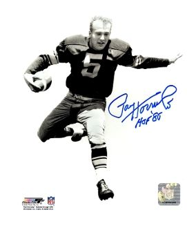 Paul Hornung autograph 8x10, Green Bay Packers, HOF inscription