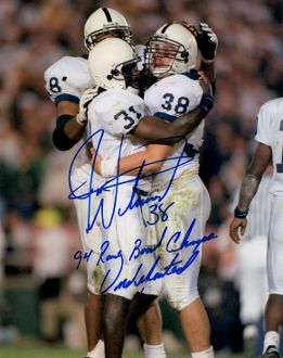 Jon Witman autograph 8x10, Penn State, 2 inscriptions