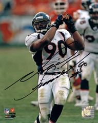 Neil Smith autograph 8x10, Denver Broncos