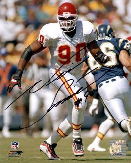 Neil Smith autograph 8x10, Kansas City Chiefs