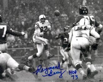 Raymond Berry autograph 8x10, Baltimore Colts, HOF inscription