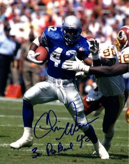 Chris Warren autographed 8x10, Seattle Seahawks, 3x Pro Bowl