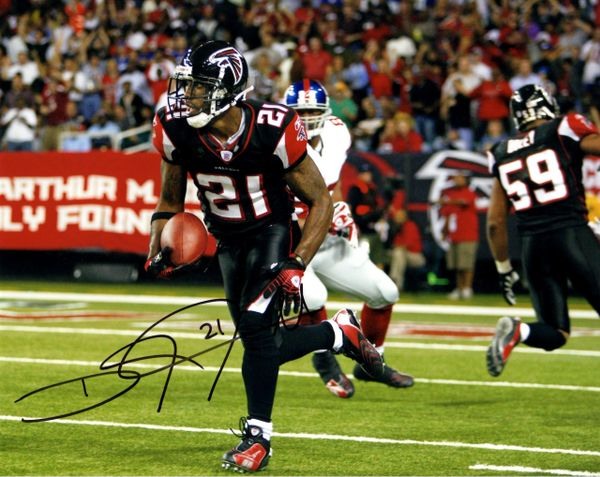 Deangelo Hall autograph 8x10, Atlanta Falcons
