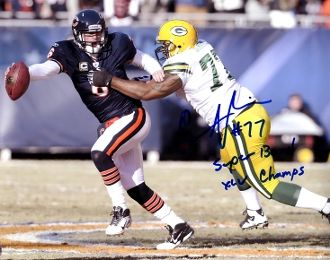 Cullen Jenkins autograph 8x10, Green Bay Packers, SB inscription