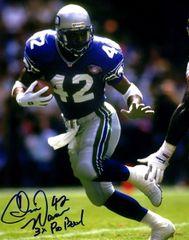 Chris Warren autographed 8x10, Seattle Seahawks, 3x Pro Bowl