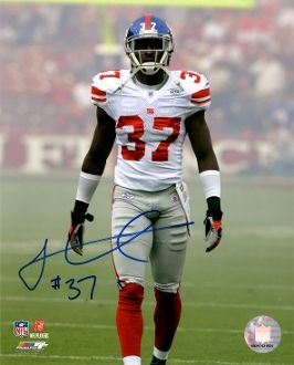 James Butler autograph 8x10, New York Giants