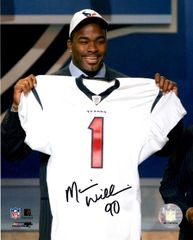 Mario Williams autograph 8x10, Houston Texans