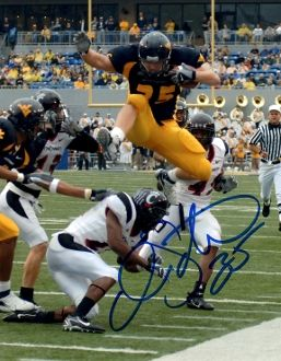 Owen Schmitt autograph 8x10, West Virginia