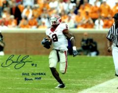 Brandon Boykin autograph 8x10, Georgia, cool inscrip