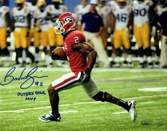 Brandon Boykin autograph 8x10, Georgia, cool inscrip
