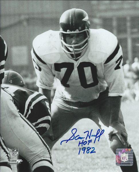 Sam Huff autograph 8x10, Washington Redskins, HOF 82