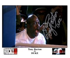 Tony Burton autograph 8x10, Rocky IV, w/inscription