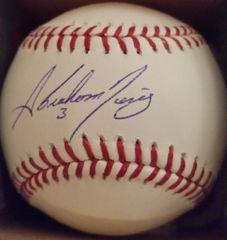 Abraham Nunez, autographed MLB baseball,