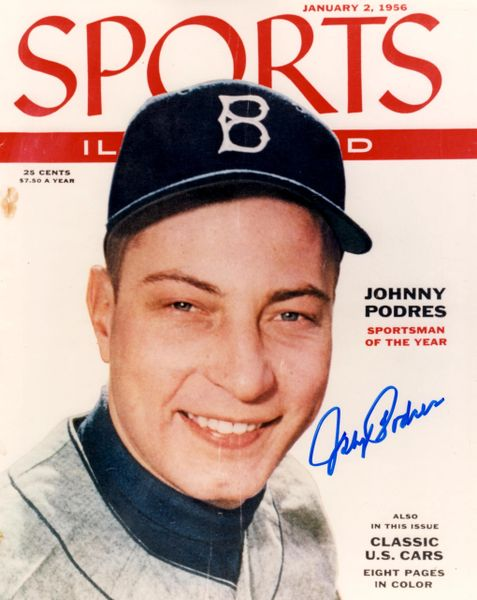 Johnny Podres, autographed 8x10, Los Angeles Dodgers