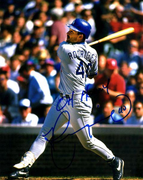 Henry Rodriguez, autographed 8x10, Los Angeles Dodgers, Oh Henry inscription