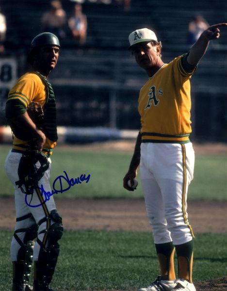 Larry Haney, autographed 8x10, Oakland A's