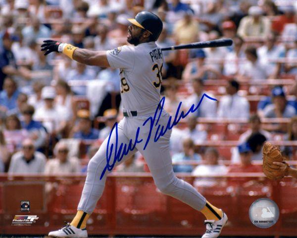 Dave Parker, autographed 8x10, Oakland A's