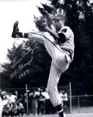 Gene Conley, autographed 8x10, Milwaukee Braves, WS Champs 1957 inscription