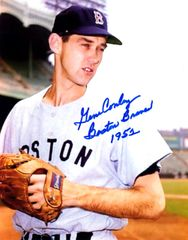 Gene Conley, autographed 8x10, Boston Braves, Boston Braves 1952 inscription