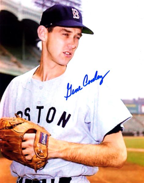 Gene Conley, autographed 8x10, Boston Braves