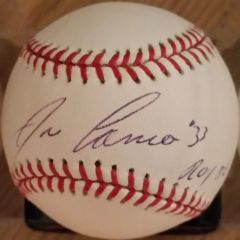 Jose Canseco, autographed MLB baseball, Oakland A's, ROY 86 inscription