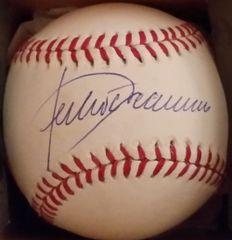 Julio Franco, autographed MLB baseball