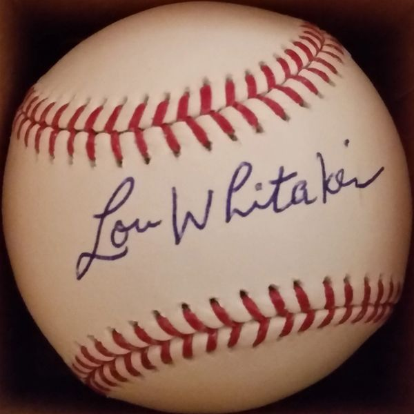 Lou Whittaker, autographed MLB baseball, Detroit Tigers