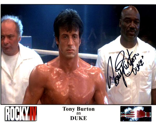 Tony Burton, autographed 8x10, Rocky IV, Duke inscription