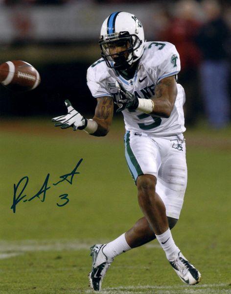 Ryan Grant, autographed 8x10, Tulane University
