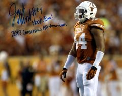 Jackson Jeffcoat, autographed 8x10, The University of Texas, Hook Em and 2013 All American inscriptions