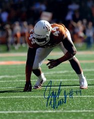 Jackson Jeffcoat, autographed 8x10, The University of Texas