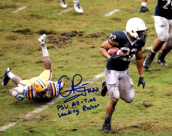 Evan Royster autograph 8x10, Penn State with awesome inscription
