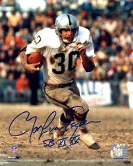 Mark Van Eeghen autograph 8x10, Oakland Raiders with inscription