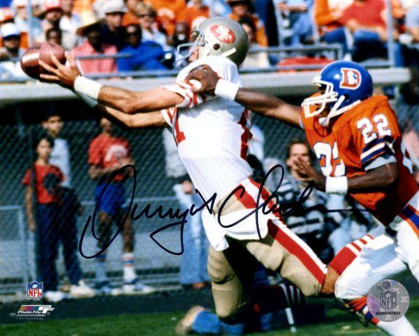 Dwight Clark autograph 8x10, San Francisco 49ers