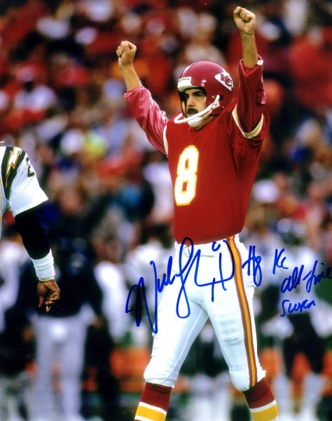 Nick Lowery autograph 8x10, Kansas City Chiefs. All Time Leading Scorer