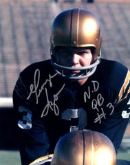George Izzo autograph 8x10, Notre Dame with inscription