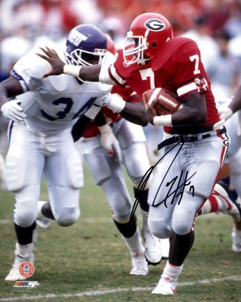 Rodney Hampton autograph 8x10, Georgia