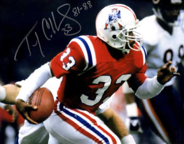 Tony Collins autograph 8x10, New England Patriots, with inscription