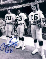 Mark Van Eeghen autographed 8x10, Oakland Raiders with inscription