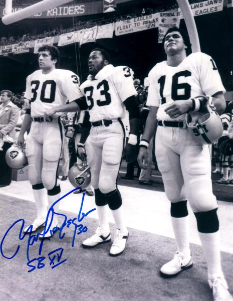 Mark Van Eeghen autographed 8x10, Oakland Raiders with inscription