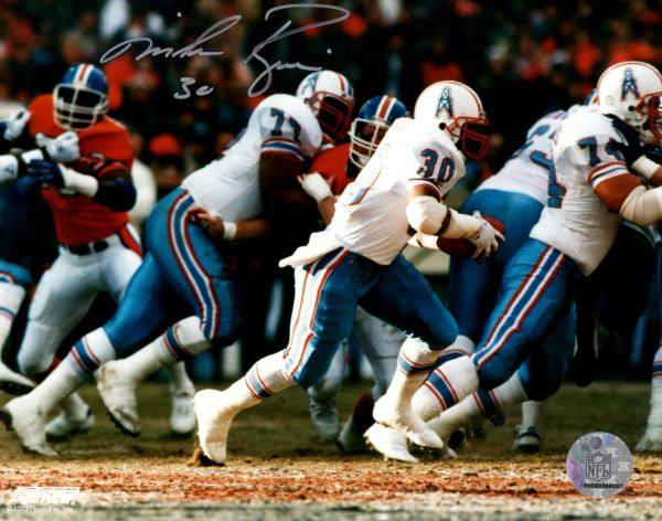 Mike Rozier autograph 8x10, Houston Oilers