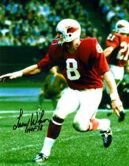 Larry Wilson autograph 8x10, St Louis Cardinals, HOF 78