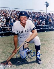 Ron Blomberg autograph 8x10, New York Yankees